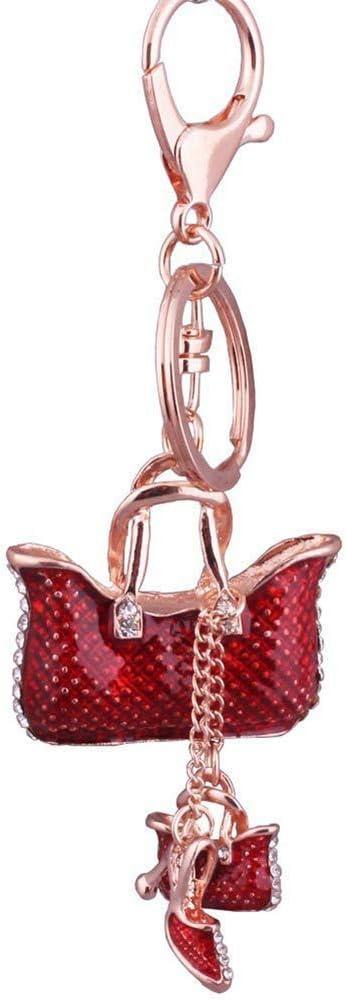 rouge rentable et de bonne qualit/é Ogquaton Sac /à talons hauts pendentif porte-cl/és voiture sac /à main porte-cl/és charme suspendu ornements cl/és boucle cadeaux pour femmes filles