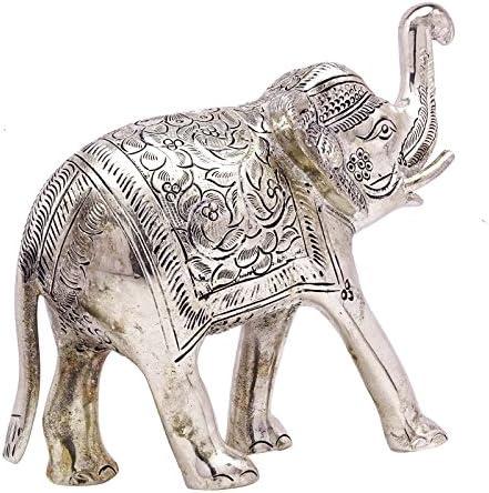 装飾インド象置物動物彫刻テーブルホーム装飾メタルアート