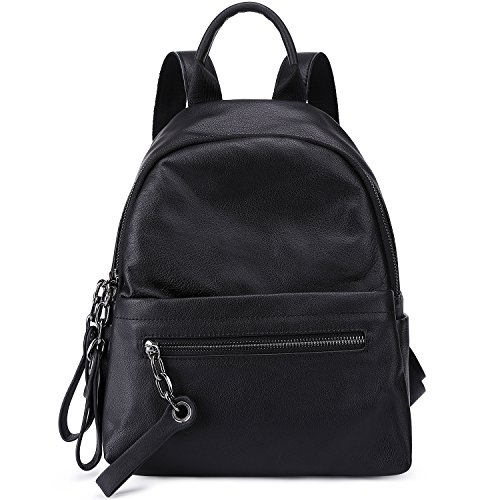 Soft Shoulder Bags Girls For Women Pebble Black Backpack Casual For Leather Black College pqwpf08r