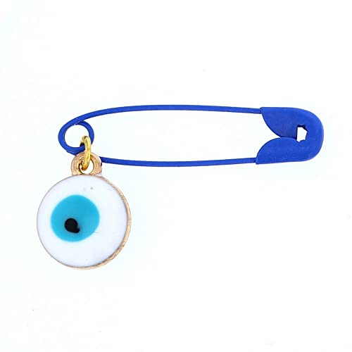 amazon com baby safety pins stainless steel evil eye baby safety