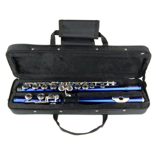 Blue Lacquer Flute for Students Band Beginners