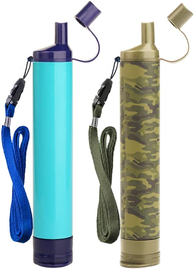Alberts Filter Personal Water Filter 5 Stage Water Purification Feed Reverse Osmosis Purifier Straw for Hiking Camping Travel and Emergency