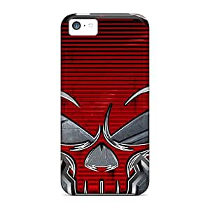 Top Quality Case Cover For Iphone 5c Case With Nice Red Skull Appearance