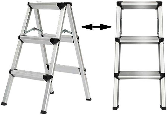 XSJZ Escalera Escalonada, Mini Taburete Portátil de Doble Uso Aleación de Aluminio Plegable Escalera Telescópica Oficina En Casa Escalera Ascendente Escalera Plegable (Color : B): Amazon.es: Hogar