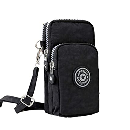 a3a044008d5b Cotowin 1pc Small Crossbody Bags Adjustable Strap Cell Phone Purse Wrist  Running Vertical Mini Bag for Women (Black)