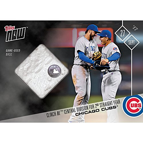 2017 CHICAGO CUBS CLINCH NL CENTRAL TOPPS NOW #663A GAME USED BASE RELIC CARD - Central Base