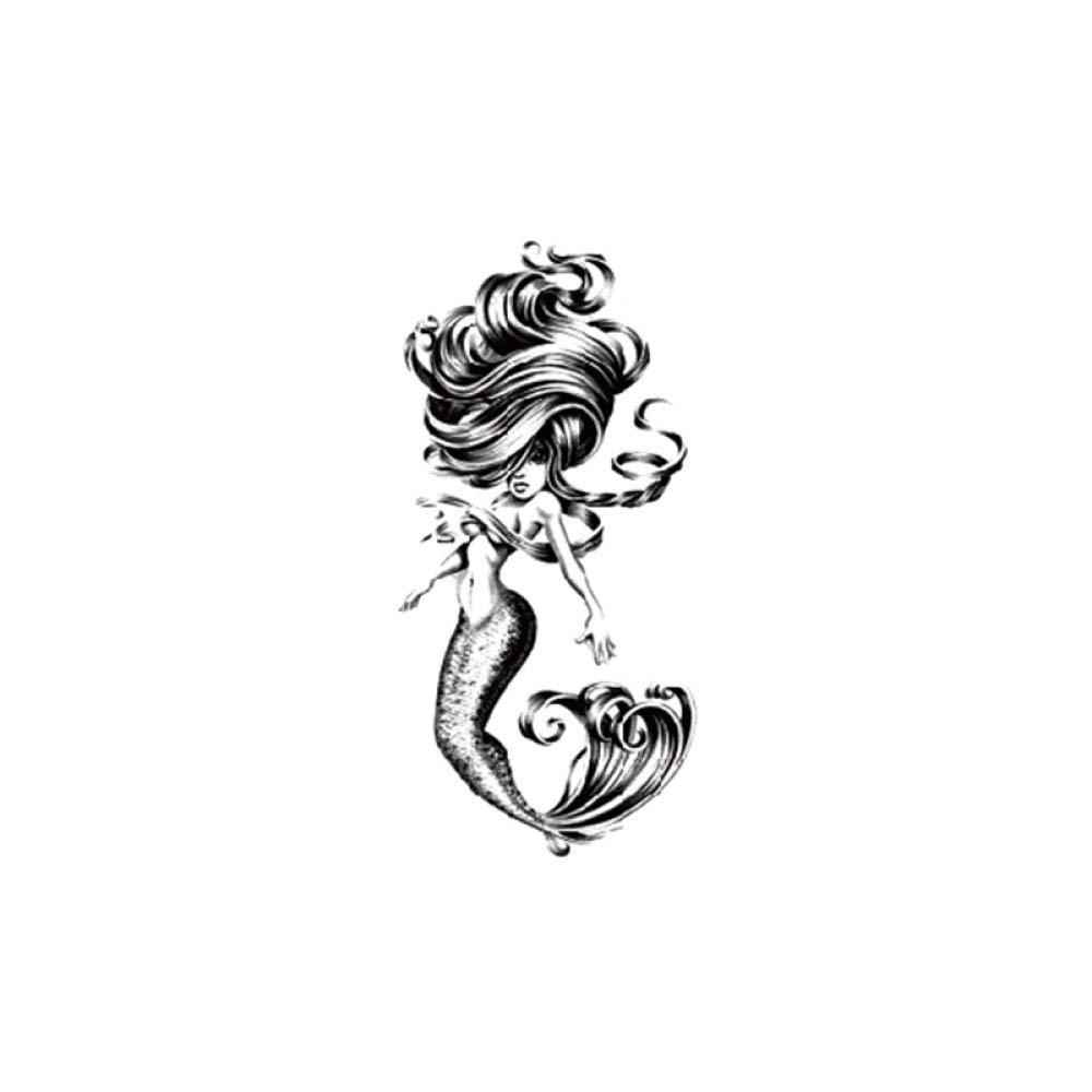 Pequeño brazo completo Etiqueta engomada del tatuaje Moda sirena ...