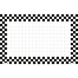 Black Checkeredboard Sign Retail Price Sign Sign Cards White Cards With Black Checkerboard Border - 11'' L x 7'' H 100 Per Pack