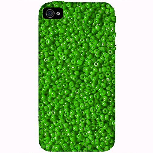 Coque Apple Iphone 4-4s - Perles vertes