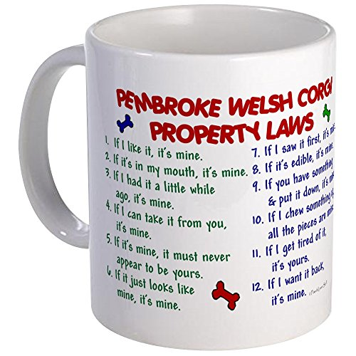 CafePress Pembroke Welsh Corgi Property Laws 2 Mug Unique Coffee Mug, Coffee Cup ()