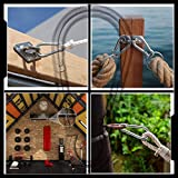 AOWISH 2 PCS Stainless Steel Spring Snap Hook