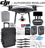 DJI Phantom 4 PRO+ PLUS Obsidian Edition Drone Quadcopter Includes Display (Black) Travel Case Essential Bundle