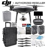DJI Phantom 4 PRO+ PLUS Obsidian Edition Drone Quadcopter Includes Display (Black) Travel Case Essential Bundle