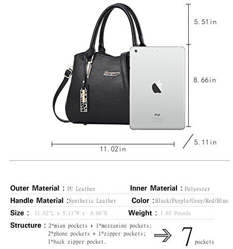 Grey Bag Handbags and Purses Handle Shoulder Crossbody Satchels Bags Bags Womens Tote Top zEqw7xx