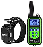 Remote Control Dog Shock Collar for Small Dogs or Big Dogs – 99 Levels Correction, Vibration, or Tone Only – Rechargeable Remote and Waterproof Collar Kit for 3 Dogs