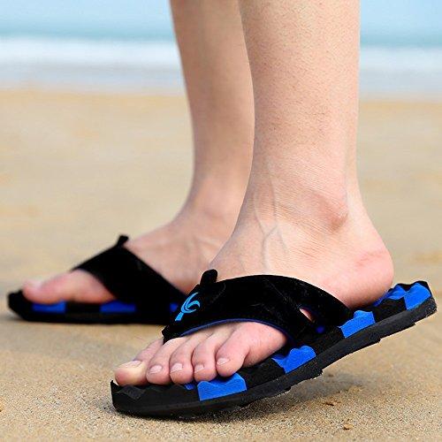 XIAOLIN Zapatillas de marea de verano marea para hombre Sandalias y zapatillas Zapatillas de deporte antideslizantes y antideslizantes para exteriores Pinch Beach Summer Zapatillas de hombre (varios c 05