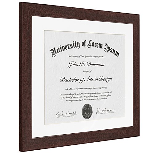 Mahogany Document Frame Made To Display Documents Sized