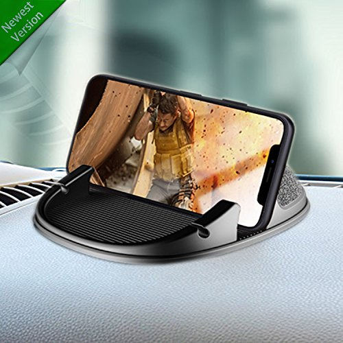 Car Phone Holder, Winique Car Phone Mount Cable Organizer Silicone Dashboard Car Pad Mat for iPhone X/8 Plus/7 Plus/6/6S Plus, Samsung Galaxy S8 Plus/Note 8/S7 3.5-7 inch Smartphone or GPS Devices