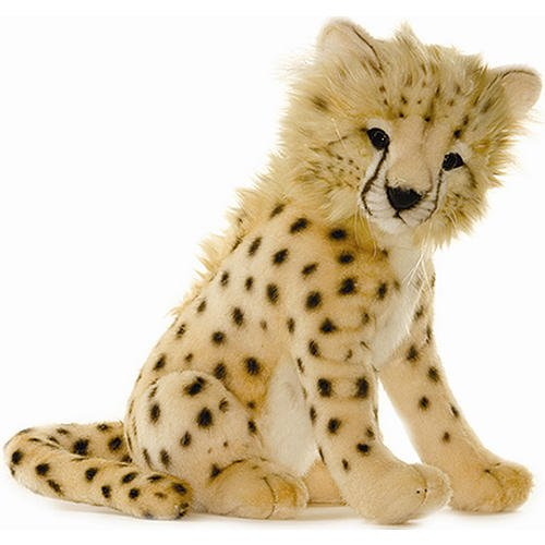 (Hansa Cheetah Cub Stuffed Plush Animal, Sitting)