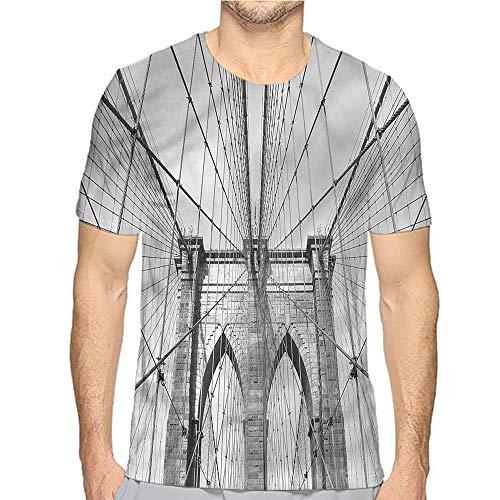 t Shirt Printer Landscape,New York Brooklyn Bridge Junior t Shirt M -