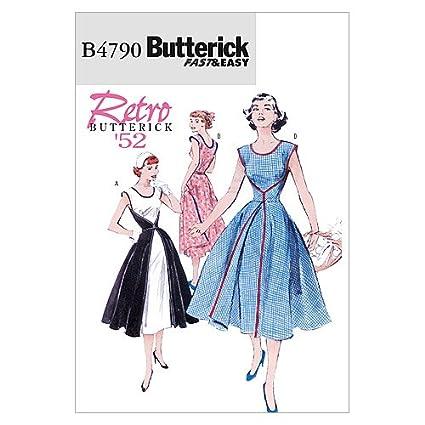 Butterick 4790 BB - Patrón de costura para confeccionar vestido de mujer (tallas 34 a