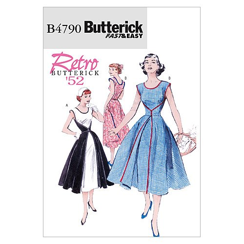 Butterick Patterns B4790 Size BB 8-10-12-14 Misses Wrap Dress, Pack of 1, White McCall's Patterns B4790BB0