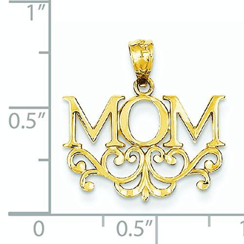 Maman pendentif 14 carats-Dimensions: 18,9 x 19,4 mm-JewelryWeb