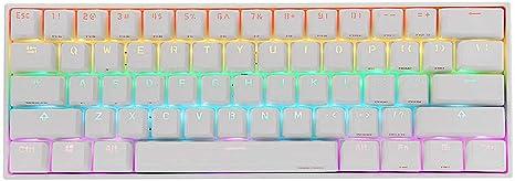Teclado 4.0 Tipo C-Gaming RGB Mecánica del Teclado 60% NKRO ...