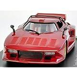 ホビージャパン 1/43 ランチア ストラトス Gr.5 1976 メタリックレッド 完成品