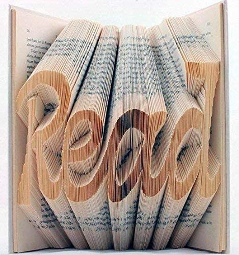 Folded book art ANY WORD with up to 6 characters PERSONALISED CUSTOM MADE GIFT