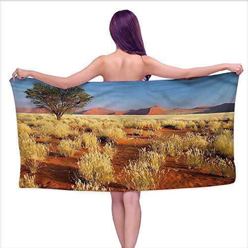 Ediyuneth Print Bathroom Accessories Set Landscape,South Africa Desert,W20 xL39 for Toddlers