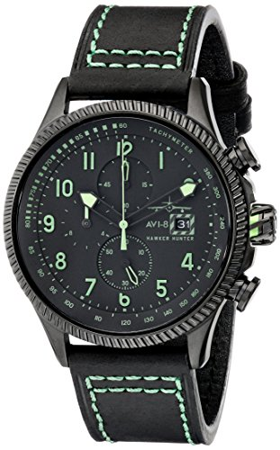 AVI-8 Men's AV-4036-02 Hawker Hunter Analog Display Japanese Quartz Green Watch