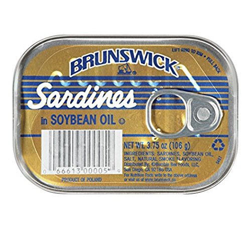 Brunswick Sardines (Brunswick Sardines in Soybean Oil, 3.75 Oz (Pack of 6))
