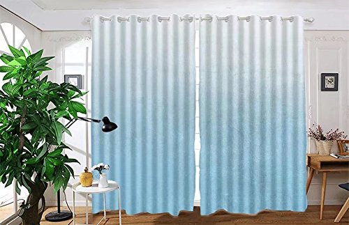 """vanfan 2 Panel Set Digital Printed Blackout Window Curtains for Bedroom Living Room Dining Room Kids Youth Room Window Drapes(W54""""x L95"""", abstract luxury background pale blu)"""