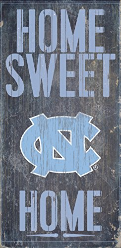 North Carolina Tar Heels Wood Sign - Home Sweet Home - Outlet Malls Carolina North