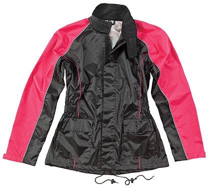 Joe Rocket RS-2 Women's 2 Piece Motorcycle Rainsuit Pink/Black (Large)