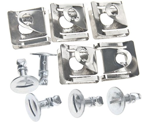 Splash Shield Mounting - Micro Trader 5 Sets Splash Shield Holder Belly Pan Hardware Speed Nut Clips Bolts for Audi A4 A6 Skoda OEM 8D0805121