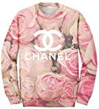 Product review for Women's Oversized All Over Printed Designer Pink Floral Pullover Sweatshirt
