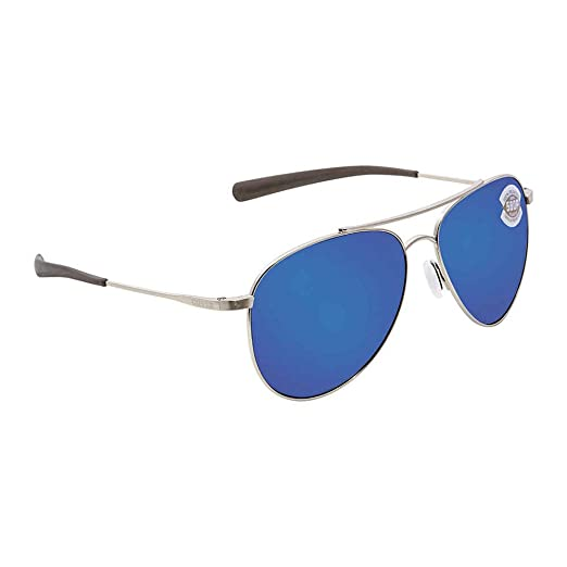 cfdbdf0bc7 Costa Del Mar Cook Sunglasses Brushed Palladium Blue Mirror 580Plastic