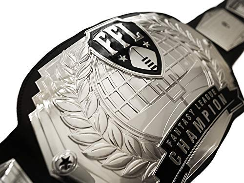 TrophySmack Fantasy Football Championship Belt - Silver - Customizable with up to 12 Years of Past Winners! by TrophySmack