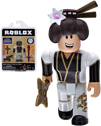 Roblox Gold Collection Ninja Assassin: Yang Clan Master Single Figure Pack with Exclusive Virtual Item Code