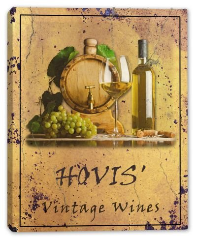hovis-family-name-vintage-wines-canvas-print-24-x-30