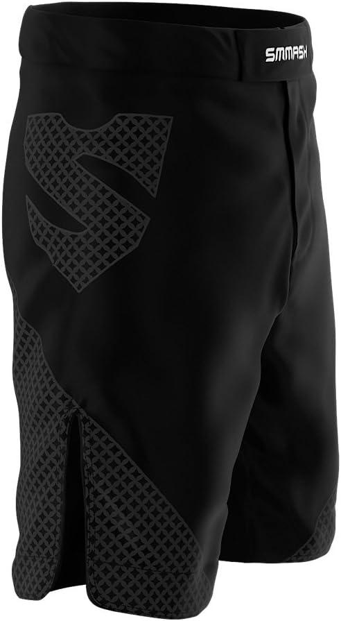 Pantalones Cortos de Deporte Negros para Hombre SMMASH G-Ray para el Entrenamiento de MMA UFC y Gimnasio BJJ