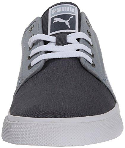 El Puma Alta lona lavada con cordones de la zapatilla de deporte de moda Steel Gray/Gray Violet/White