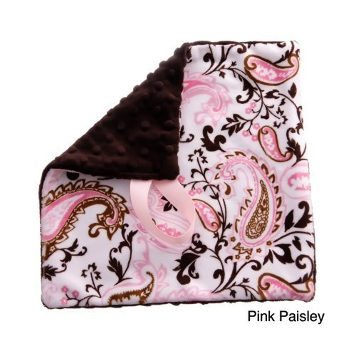 (BBEmerald Paisley Baby Pacifier Blanket, Pink by BbEmerald)