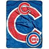 "Officially Licensed MLB Triple Play Mirco Raschel Throw Blanket, Soft & Cozy, Washable, Throws & Bedding, 46"" x 60"""