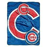 The Northwest Company MLB Chicago Cubs Micro Raschel Plush Throw Blanket, Trip Play Design