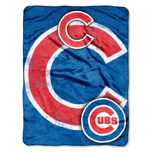 - MLB Chicago Cubs Micro Raschel Plush Throw Blanket, Trip Play Design