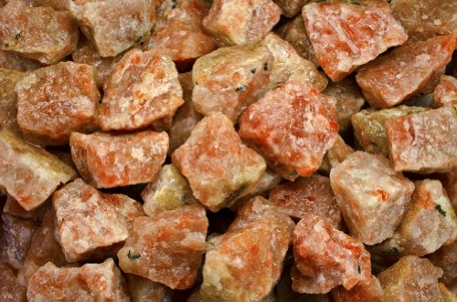 (Fantasia Materials: 3 lbs Sunstone Rough - (Select 1 to 18 lbs) - Raw Natural Crystals for Cabbing, Cutting, Lapidary, Tumbling, Polishing, Wire Wrapping, Wicca and Reiki Crystal Healing)