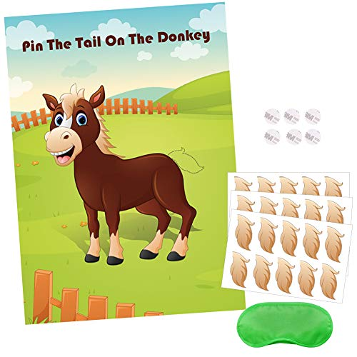 Hokic Pin The Tail On The Donkey Party Game for Kids Birthday Decorations Carnival Party Supplies, Game Collection]()